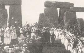 Feier eines Druidenordens in Stonehenge im Jahr 1905